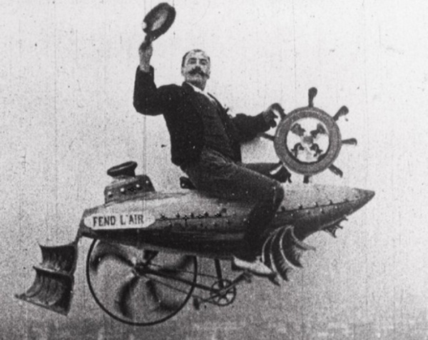 Rêver de voler, Ferdinand Zecca le filme en 1901