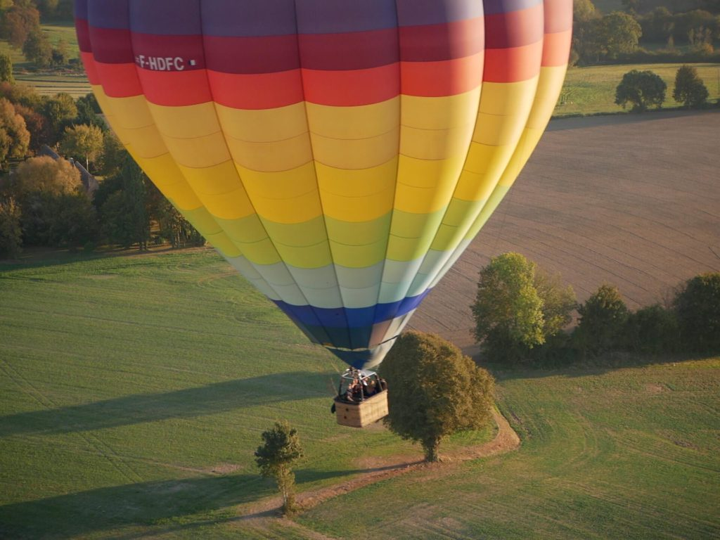 Vendôme et la vallée du Loir à découvrir en montgolfière