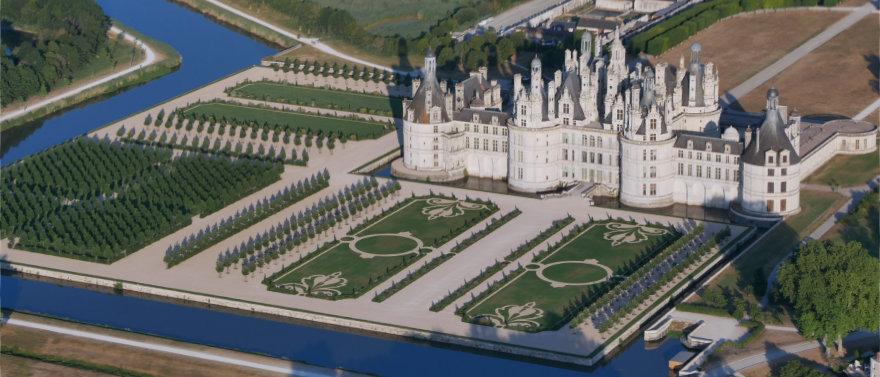 Le château de Chambord vu du ciel, un privilège rare