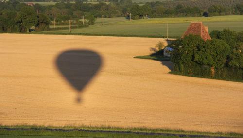 Voyager lentement au-dessus de la vallée du Loir