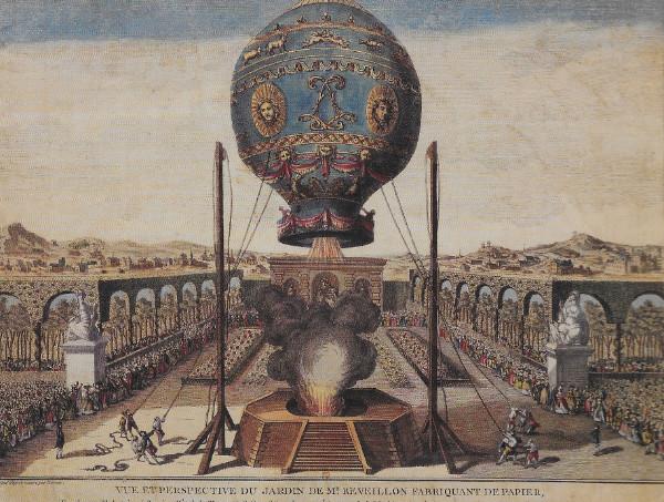 Le e1er vol aérostatique de l'Histoire
