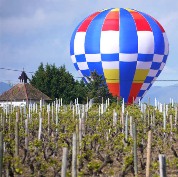 montgolfière en beaujolais